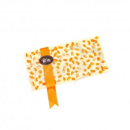Czekolada biała ze skórką pomarańczową 300g